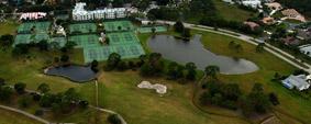 vue aerienne tennis et golf